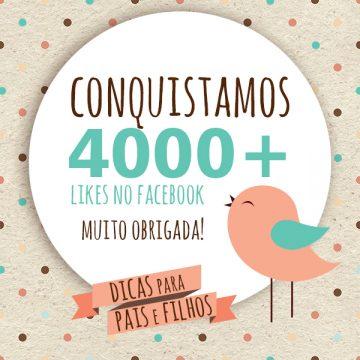 Muito Obrigada! Somos 4.000 seguidores!