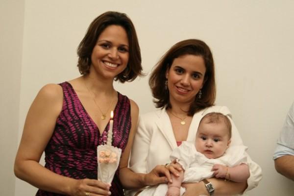 Madrinha (Marcella), Madrinha de Consagração (Andrea) e Luisa