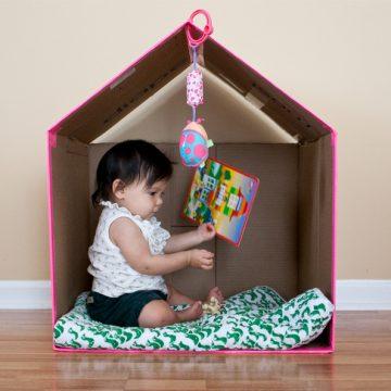 Brinquedos feitos de papelão