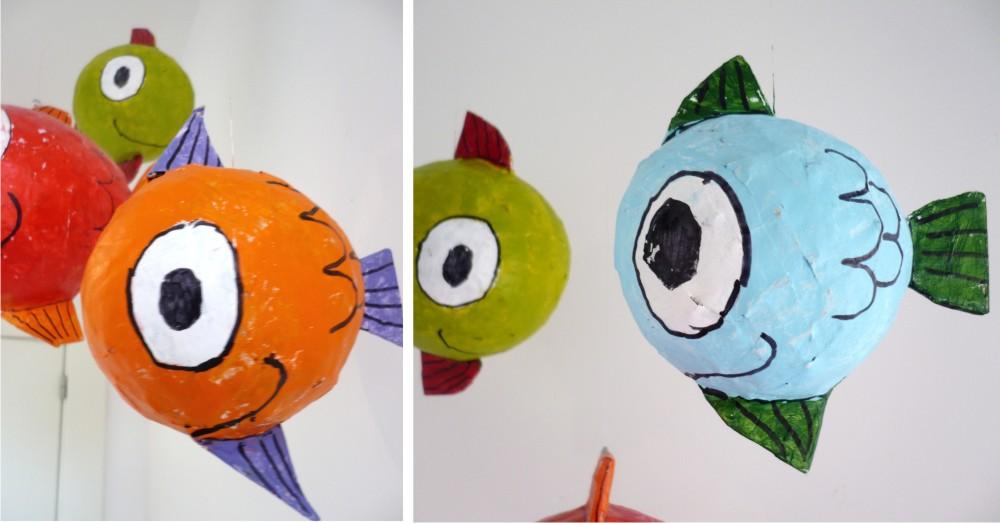 Reciclando com papel mach dicas pais e filhos for Como hacer un criadero de peces casero