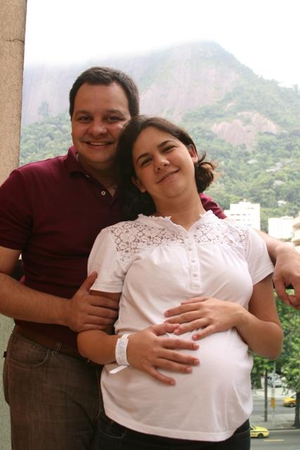 Foto no dia em que Antonio Pedro nasceu 24/01/2010