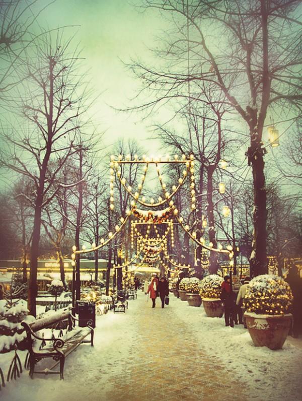 Parque Tivoli, em Copenhagen.