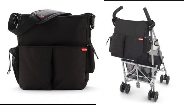 Bolsa Skip Hop Duo Deluxe – Grande bolso exterior e três pequenos bolsos  externos – Dois grandes bolsos com zíper exteriores 244a2c5ffbf