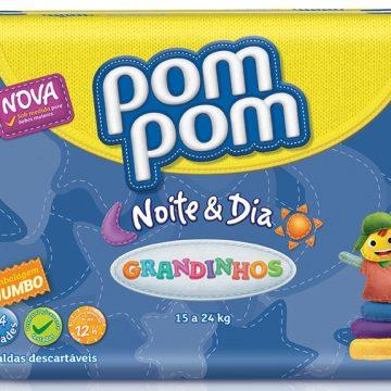 Pom Pom lança linha de fraldas Noite & Dia