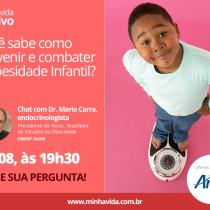 Site Minha Vida promove evento com especialista em obesidade infantil
