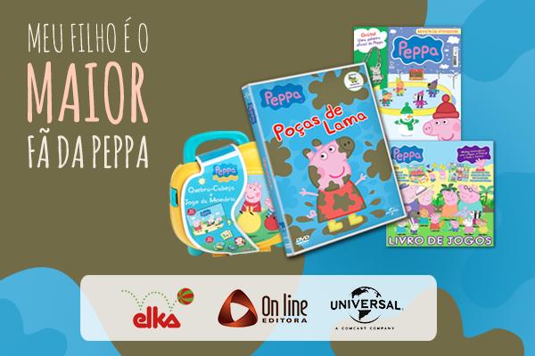 Quer ganhar o primeiro DVD, livros e o Quebra-cabeça Jogo da Memória da Peppa  Pig? Para concorrer, basta postar uma foto no ...