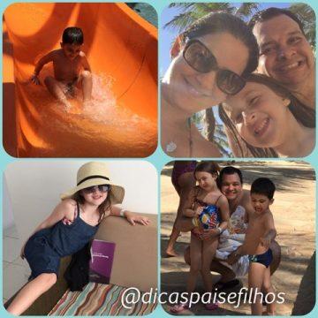 Beach Park com as crianças