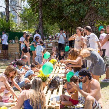 Espaço ao ar livre para picnic no Dia das Crianças na Lagoa