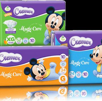 Cremer Disney apresenta linha de fraldas Magic Care