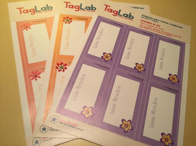 Volta às aulas - etiquetas personalizadas