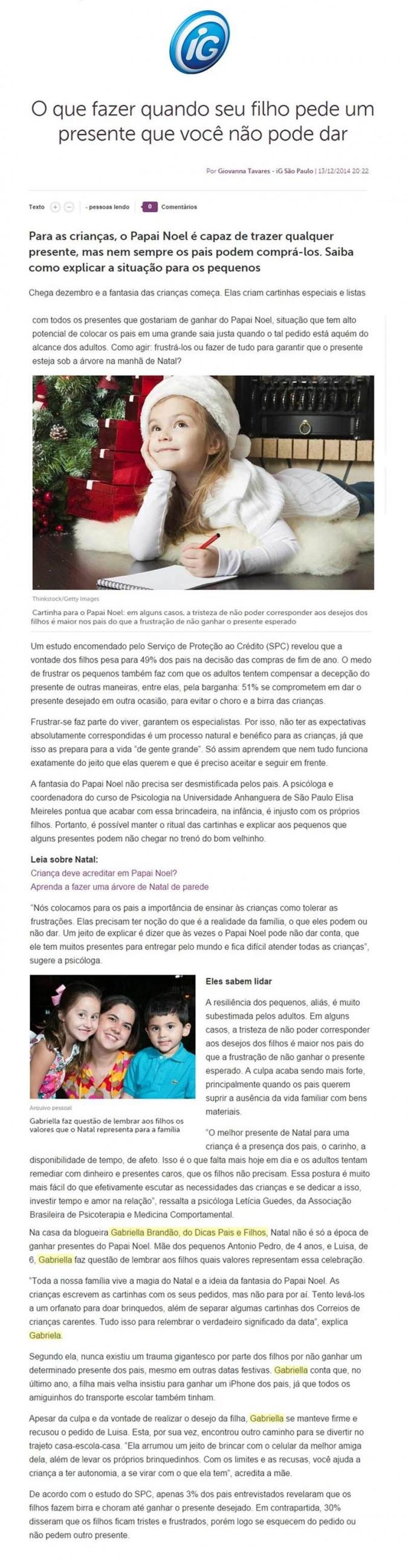 Portal IG Filhos 15/12/2014