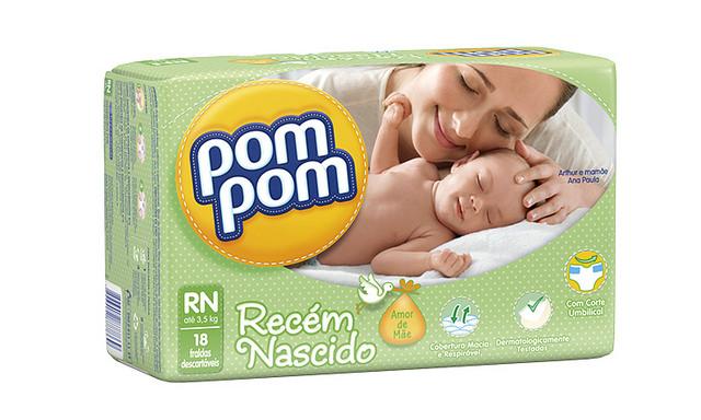 Pom Pom relança linha de fraldas e apresenta novidades para o banho dos bebês