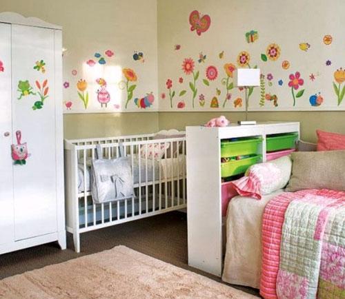 Dividir o quarto do irmão mais velho com o bebê