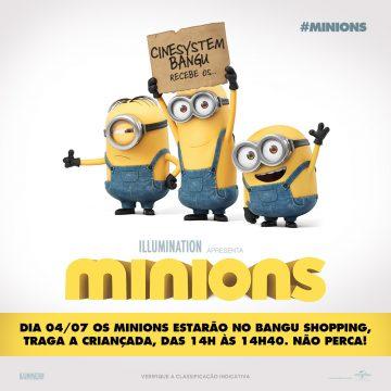 Bangu Shopping recebe os Minions para animar as férias de julho