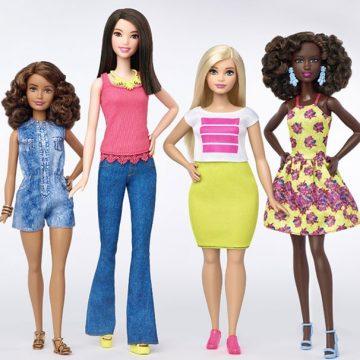 Barbie ganha novas formas de corpo, tons de pele e cores de olhos