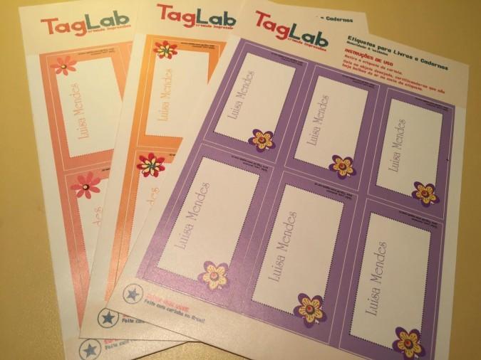 Etiquetas Taglab: Volta às aulas