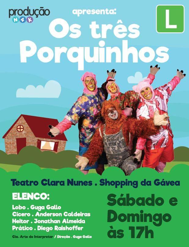 """Teatro: """"Os Três Porquinhos"""""""