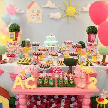 Festa Infantil: 2 aninhos da Catarina com Peppa Pig