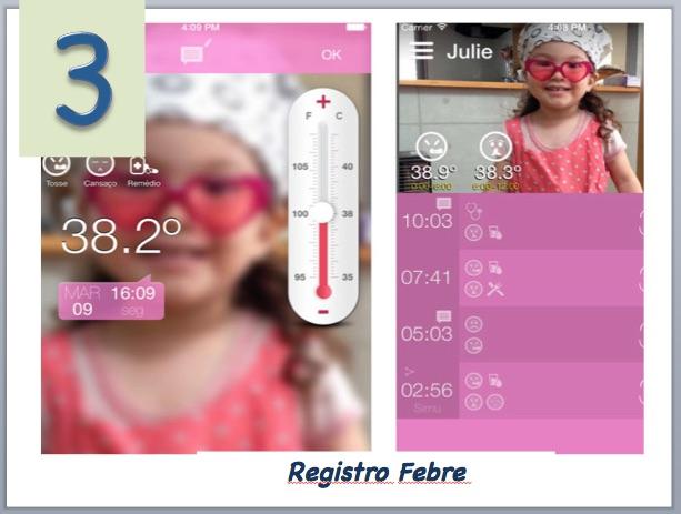 Aplicativo para monitorar febre