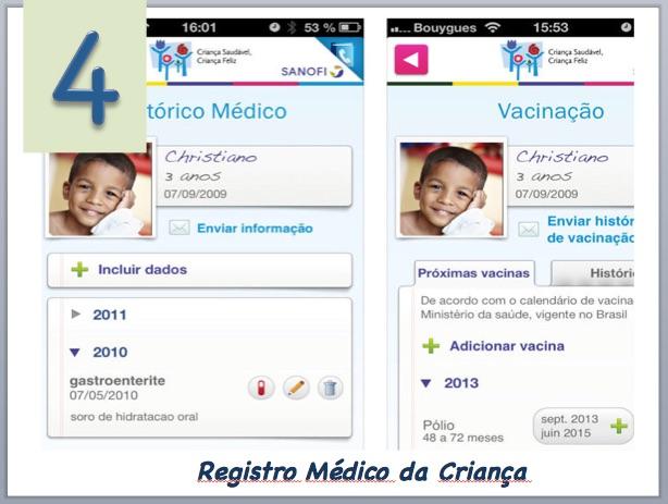 Aplicativo para monitorar saúde criança