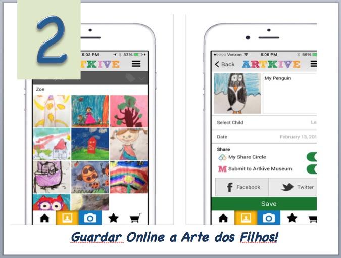 Aplicativo para armazenar arte dos filhos