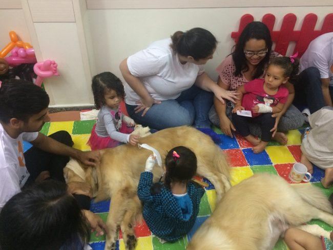 Cãoterapia melhora humor e adesão aos tratamentos em hospital pediátrico no Rio