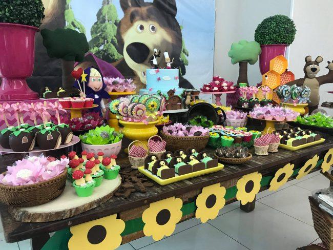 Festa Infantil Masha E O Urso Para Fernanda Mini Mimos Dicas